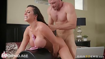 Ariella Ferrera is riding a hard cock in her bedroom, while performing on web cam