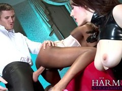 Samantha Bentley and her friends are making an exciting porn video and enjoying it a lot