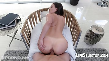 Lilly Love is wearing erotic lingerie and stockings while getting ready to fuck her new lover