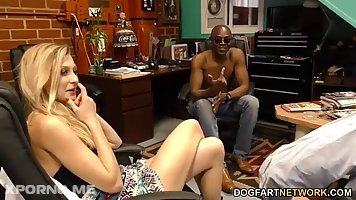 Small titted, blonde slut, Alexa Grace had sex with a black guy in front of her boyfriend