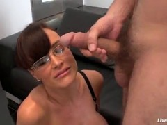 Experienced big tits cougar Lisa Ann is giving her male friend a tour of her wet love holes