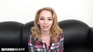 Beautiful blonde babe, Angel Smalls is determined to become a pornstar because she likes fucking